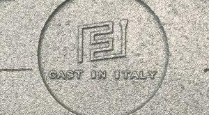 Fonderia Finco Cast in Italy pittogramma su ghisa