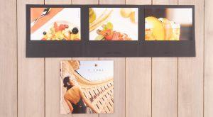 Promo Comunicazione brochure e menu Hotel Exedra
