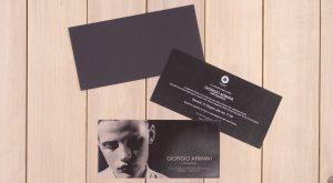Promo Comunicazione invito per inaugurazione mostra Giorgio Armani presso Hotel Exedra