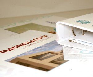 Protecno Padova depliant, cataloghi e raccoglitore