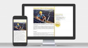Protecno Padova sito internet per prodotto fotovoltaico