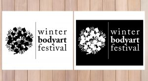 Winter BodyPainting Festival logo versione monocroma
