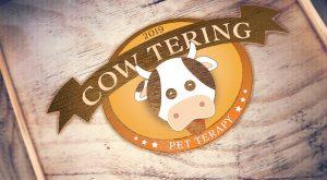 Cow-Tering serigrafia su legno