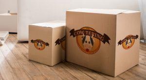 Cow-Tering scatola cartone personalizzata