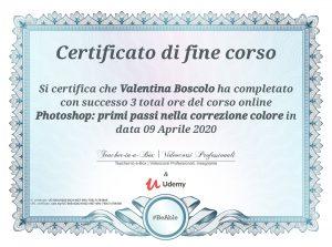 certificazione gestione colore Valentina Boscolo
